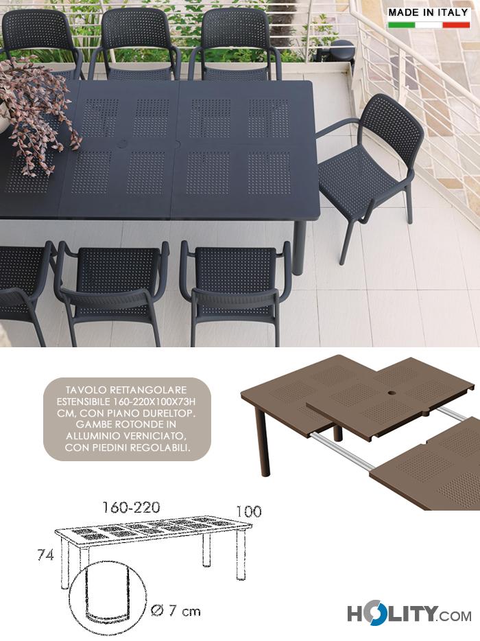 Tavolo Da Giardino Estensibile.Tavolo Da Giardino Allungabile In Resina E Alluminio H13322