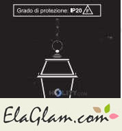 Suspension lamp made of wrought iron h16841