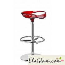 sgabello-girevole-in-acciaio-e-policarbonato-trasparente-rosso-h7431