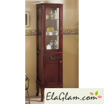 classic bathroom column in wood with glass door h11304