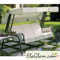 Removable 4 seats swing with plastic coated steel h7472
