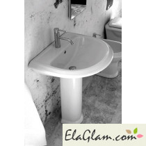 Washbasin with colomn in ceramic h11612