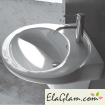 Washbasin with ceramic pedestal h11611