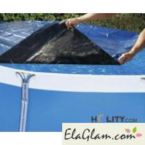 Copertura per piscine fuoriterra in tessuto di polipropilene diametro 600 cm h17432