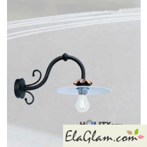 Wall lamp in wrought iron h16827
