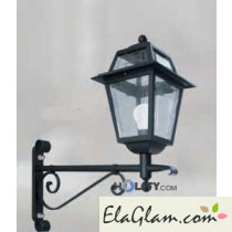 Wall lamp in wrought iron h16849