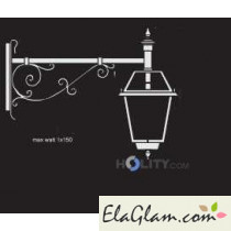 Wall lamp with glass diffuser cathedral h16837