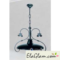 Suspension lamp with steel reflector h16833
