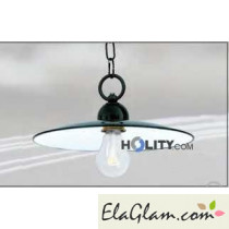 Suspension lamp made of wrought iron h16831