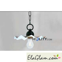 Suspension lamp made of wrought iron h16832