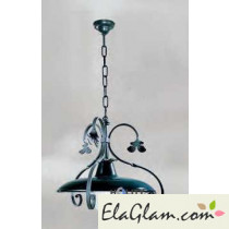 Suspension lamp made of wrought iron h16834