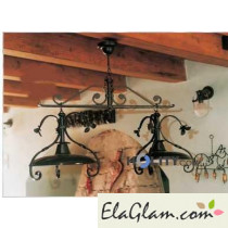 Pendant chandelier wrought iron h16836