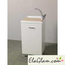 Lavatoio con vasca in resina e nobilitato h15610