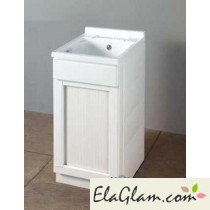 Lavatoio per esterni con vasca in resina con serrandina h15630