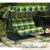 Three seats stackable swing h74266