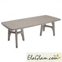 Resin table extendable h7475 dove