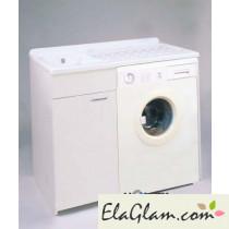 Lavatoio con vasca in metalcrilato per lavatrice h15619