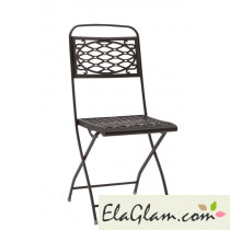 Steel folding chair without arms h7489 linen