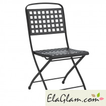 Steel folding chair without arms h7487 green