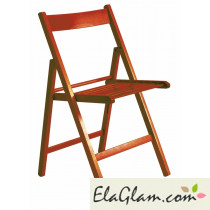 Folding chair in white wood h8245