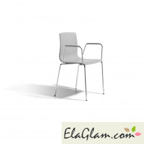 Chair alice scab  with armrests h74281 grey