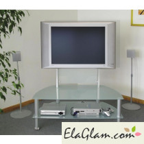 Lcd tv trolley in aluminum h12501