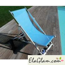 Sdraio in alluminio e textilene reclinabile h5333