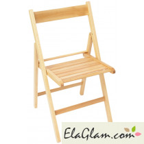 Folding chair in natural wood h8247