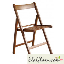Folding chair in walnut wood h8246