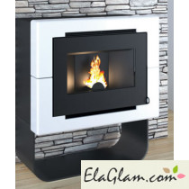 Pellet stove with ceramic coating h10126