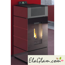 Pellet Stove coated glass h10120