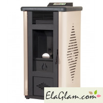 Pellet stove in painted steel h10114