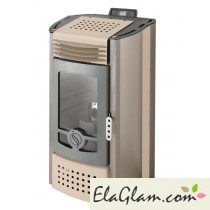 Pellet stove with painted steel h10115 white