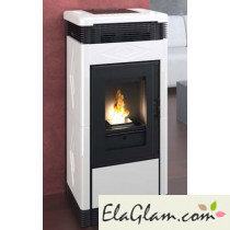 Pellet stove with ceramic coating h10125