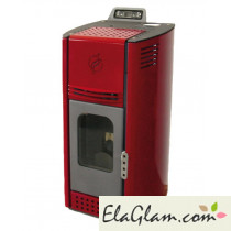 Ecological pellet stove with remote control h10116 burgundy