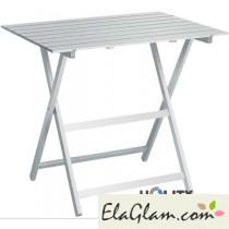 tavolo pieghevole in legno bianco