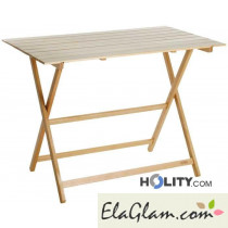 Folding table in wood natural