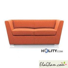 Sofa in pvc and cotton h8011