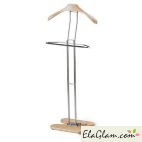 Wooden and steel valet stand h5608