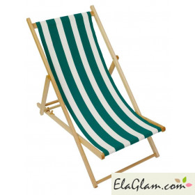 Wooden folding beach loungers with cotton towel h8238