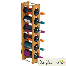 Bottle rack in pine wood h8217