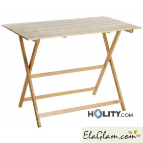 Folding table in wood h8222