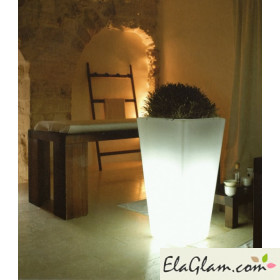 Luminous vase square h10403